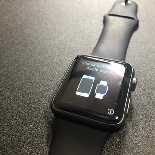 アップルウォッチ(Apple Watch)のApple Watch 第一世代(初代) 7000Series 42mm 黒(腕時計(デジタル))