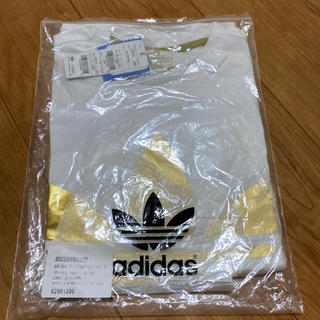 アディダス(adidas)の【値下げ】adidas originals Tシャツ ホワイト×ゴールド(Tシャツ/カットソー(半袖/袖なし))
