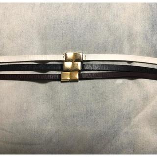 ユナイテッドアローズ(UNITED ARROWS)のメゾンボワネ レザーベルト 3本セット(ベルト)