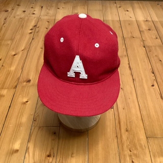 MOUNTAIN RESEARCH - ★ 試着程度 Mountain Research A.M. CAP レッド ★