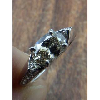 ぴよ吉さま専用!メインはブラウンオーバルです!Pt900ダイヤリング 7.5号(リング(指輪))