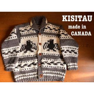 KANATA - KISITAU カナダ製 カウチンセーター ニット コンドル柄 CANADA ⑤
