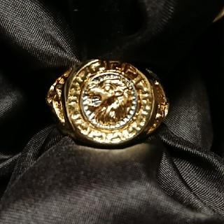 ❣️新品❣️27号・獅子彫刻ゴールドリング❣️(リング(指輪))