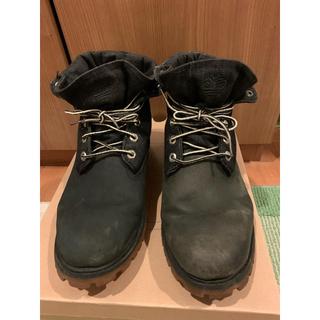 ティンバーランド(Timberland)のTimberland  ブーツ ロールトップ ブラック 27cm 即日発送(ブーツ)