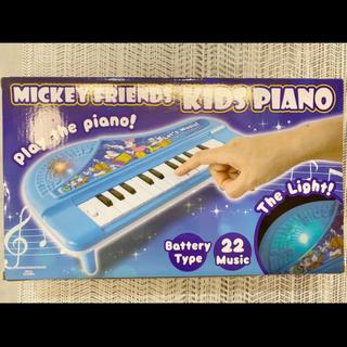 ディズニー(Disney)のディズニー キッズピアノ 電子ピアノ ミッキーフレンズ ブルー 子供ピアノ(電子ピアノ)