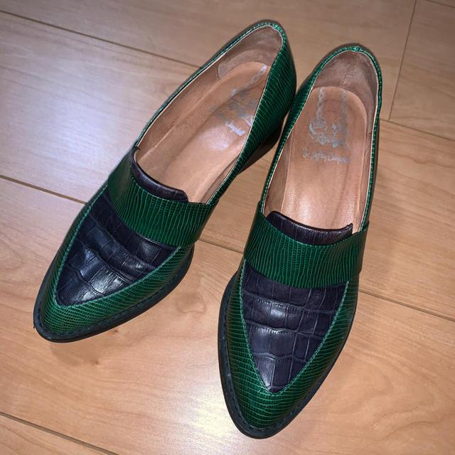 JEFFREY CAMPBELL(ジェフリーキャンベル)のジェフリーキャンベル クロコローファー 36 レディースの靴/シューズ(ローファー/革靴)の商品写真