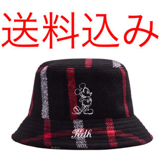 ディズニー(Disney)のKith Disney Wool Bucket Hat Plaid Black(ハット)