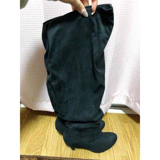 ニーハイロングブーツ ブラック(ブーツ)