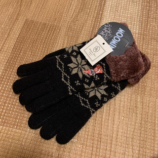 サマンサモスモス(SM2)の新品 サマンサモスモス ムーミン リトルミイ 手袋 ブラック(手袋)