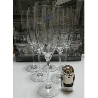 ドンペリニヨン(Dom Pérignon)のドン・ペリニヨンオリジナルグラス6脚セット&オマケ付き(グラス/カップ)