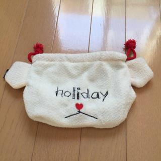 ホリデイ(holiday)のholiday おしゃべり巾着(コインケース/小銭入れ)