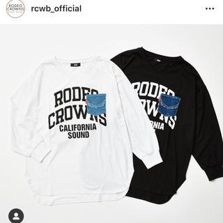 RODEO CROWNS WIDE BOWL - ロデオクラウンズワイドボウル✳︎限定ロングTシャツ✳︎ブラック