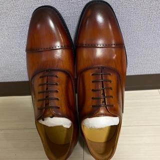 未使用品、ビジネスシューズ 紳士靴 メンズ 本革 ストレートチップ 24.5cm(ドレス/ビジネス)