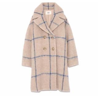 ファーファー(fur fur)のFURFUR  ラインチェックコート 美品 コート アウター(ロングコート)