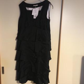 ローズティアラ(Rose Tiara)のローズティアラL 42サイズ大きい 黒ワンピース(ひざ丈ワンピース)