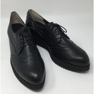 ベルメゾン(ベルメゾン)の新品☆BENEBIS マニッシュシューズ ブラック 25cm(ローファー/革靴)
