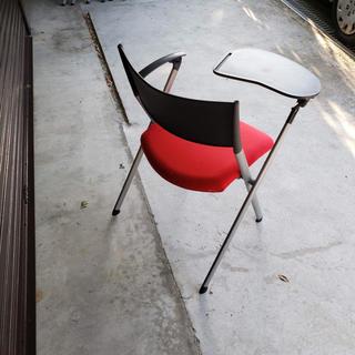 会議用テーブル付き椅子(折り畳みイス)