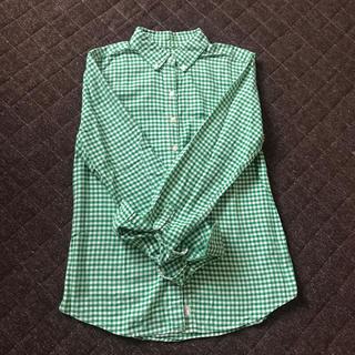 ギャップ(GAP)のGAPタータンチェックシャツ グリーン(シャツ/ブラウス(長袖/七分))