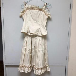 ヴィクトリアンメイデン(Victorian maiden)のヴィクトリアンメイデン・ビスチェ&スカートセットアップ(ひざ丈スカート)