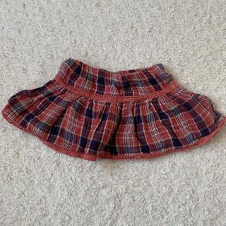 「80cm】チェックスカート(スカート)
