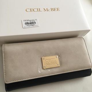 セシルマクビー(CECIL McBEE)の新品 セシルマクビー 長財布 ウォレット ベージュ×ブラック(財布)