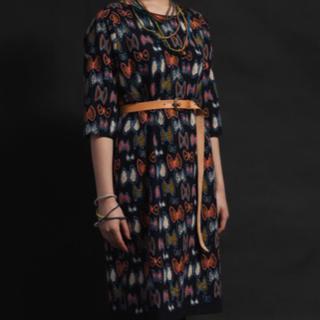 ミナペルホネン(mina perhonen)のレア♪ミナペルホネン skyflower  navy ワンピース ドレス(ひざ丈ワンピース)