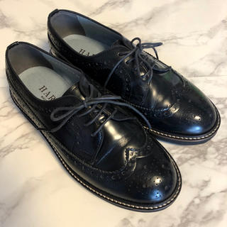 ハルタ(HARUTA)の★お値下★HARUTA ウィングチップ 黒 23EE【ハルタ】(ローファー/革靴)