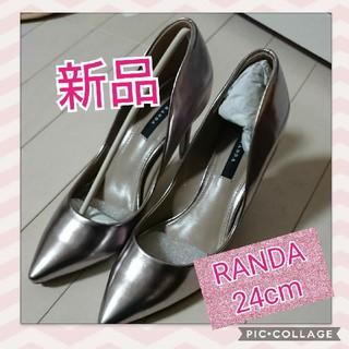 ランダ(RANDA)のRANDA 新品 人気商品   ランダ  シルバーパンプス 美脚パンプス(ハイヒール/パンプス)