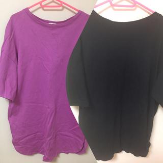 GU - ジーユー オーバーサイズ ロングTシャツ チュニック 2点セット