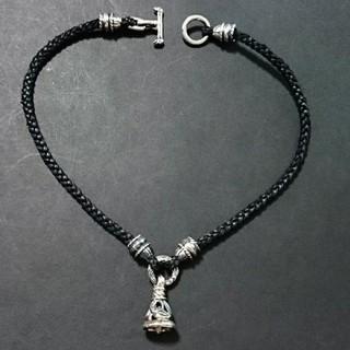 ロンワンズ(LONE ONES)のクレーンベル レザー ネックレス シルバー925 ロンワンズ 好きに(ネックレス)