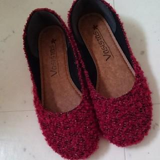 赤 靴 パンプス(ハイヒール/パンプス)