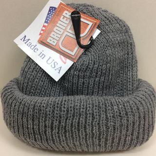 ブローナー アクリルニット帽 グレー 新品(ニット帽/ビーニー)