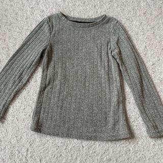 【110cm】リブトップス(Tシャツ/カットソー)