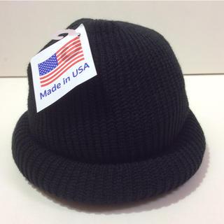 ロスコ(ROTHCO)のROTHCO knitcap ロスコニット帽 ブラック 新品(ニット帽/ビーニー)