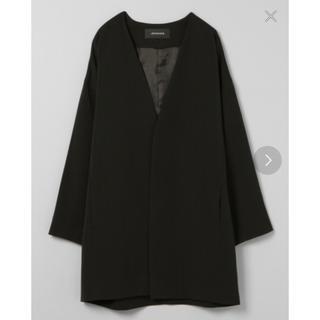 ジーナシス(JEANASIS)のJEANASIS ジーナシス ノーカラーコクーンジャケット 新品 ブラック(テーラードジャケット)