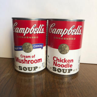 キャンベルスープ マシュルーム&チキンヌードル(缶詰/瓶詰)