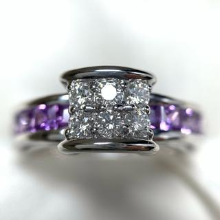 JEUNET サファイア ダイヤ ファッションリング(リング(指輪))