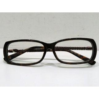 ボッテガヴェネタ(Bottega Veneta)のボッテガ イントレチャートレザー付き眼鏡 ブラウン 55□13(サングラス/メガネ)