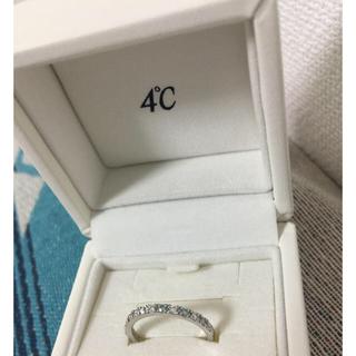 ヨンドシー(4℃)の4℃ブライダル ディズニーP950ブルーダイヤモンド  ダイヤモンド(リング(指輪))