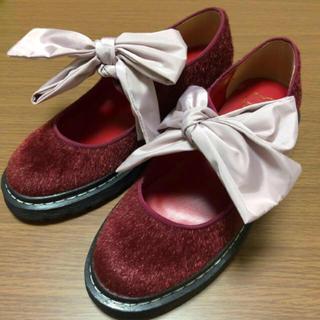 メリージェニー(merry jenny)の未使用 ♡ メリージェニー ♡ リボンシューズ(ローファー/革靴)