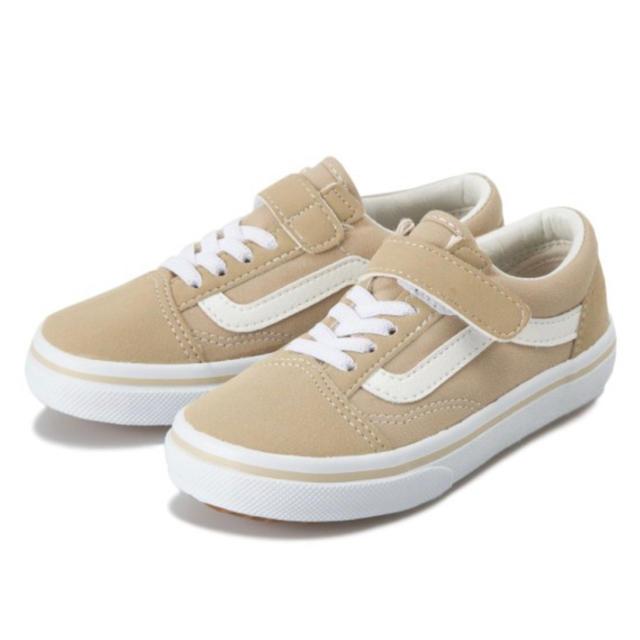 VANS(ヴァンズ)のバンズ ベージュ オールドスクール 16センチ ヴァンズ キッズ/ベビー/マタニティのキッズ靴/シューズ(15cm~)(スニーカー)の商品写真