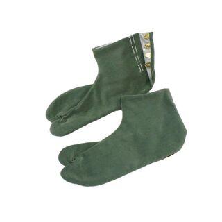別珍足袋、新品、セージ、25.5cm(下駄/草履)