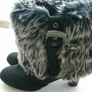 シマムラ(しまむら)のフェイクファー ブーツ 26cm 5L(ブーツ)