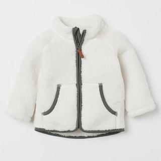 H&M ボアジャケット ホワイト 105