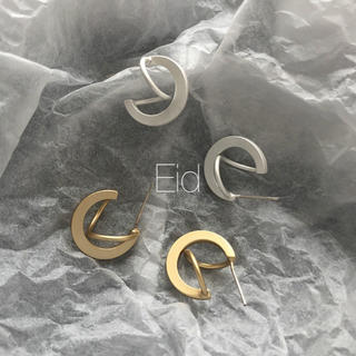 アダムエロぺ(Adam et Rope')のMini ring matte silver pierce No.211(ピアス)