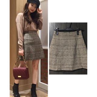 MERCURYDUO チェック台形スカート
