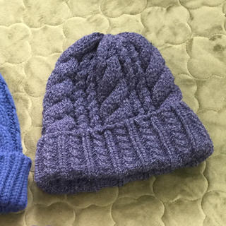 コムサイズム(COMME CA ISM)の【セール】ニット帽 紺 ネイビーグレー コムサイズム(ニット帽/ビーニー)