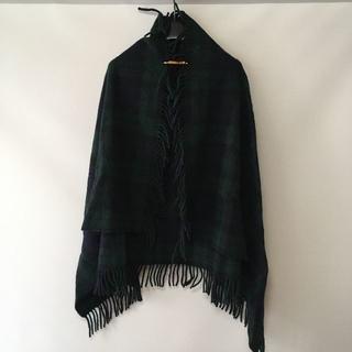 ビームス(BEAMS)のイギリス製 Highland Tweeds ショール USED(マフラー/ショール)