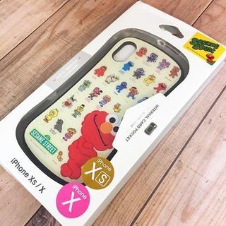 セサミストリート(SESAME STREET)の箱変形特価 セサミ iPhoneX/Xs 兼用 ハイブリッドガラスケース(iPhoneケース)