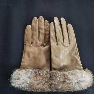 クロエ(Chloe)のクロエ ファー付レザー手袋(手袋)